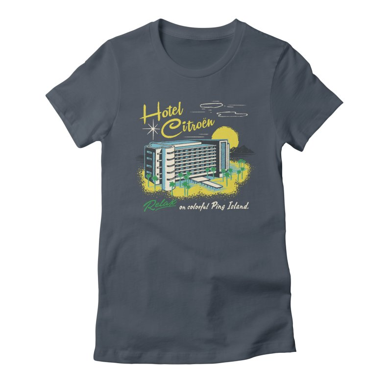 Hotel Citroen Women's Fitted T-Shirt by Steven Rhodes