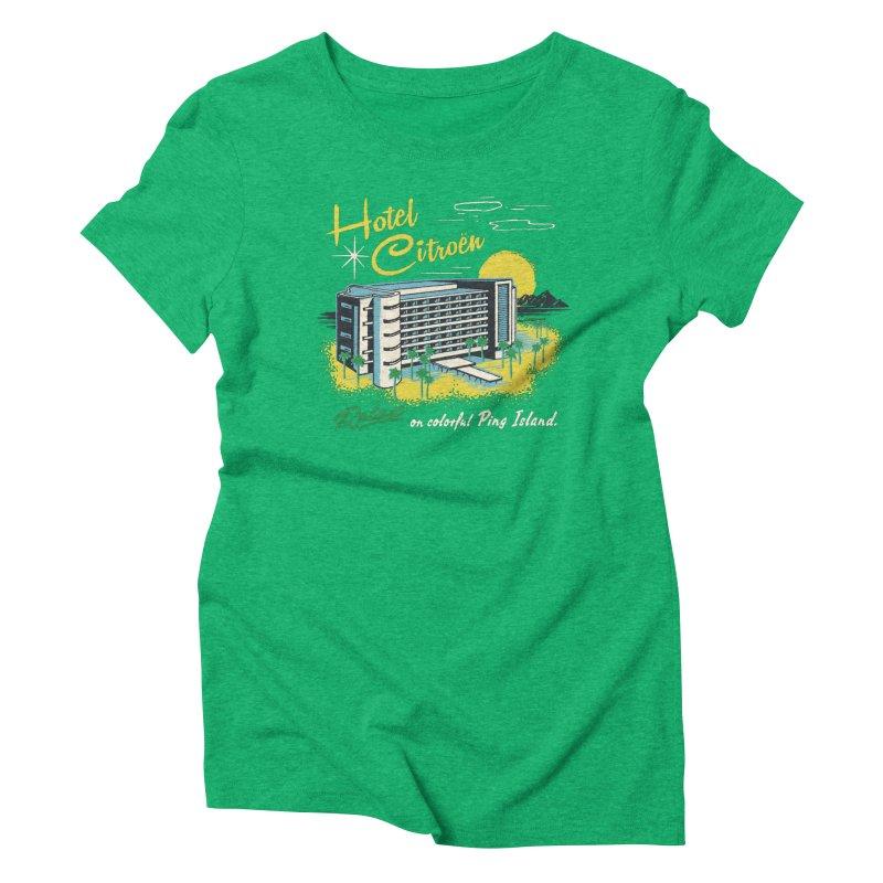 Hotel Citroen Women's Triblend T-shirt by Steven Rhodes