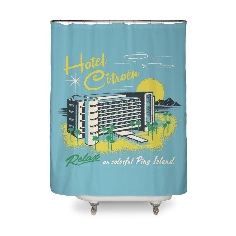 Hotel Citroen Home Shower Curtain by Steven Rhodes