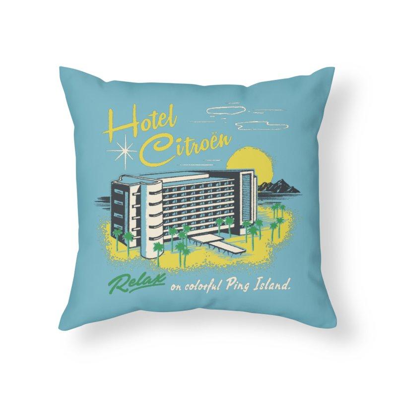 Hotel Citroen Home Throw Pillow by Steven Rhodes
