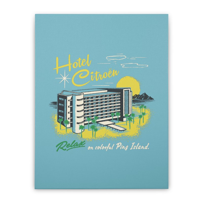 Hotel Citroen Home Stretched Canvas by Steven Rhodes