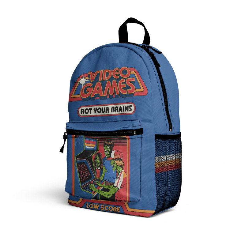 Video Games Rot Your Brains Accessories Bag by Steven Rhodes