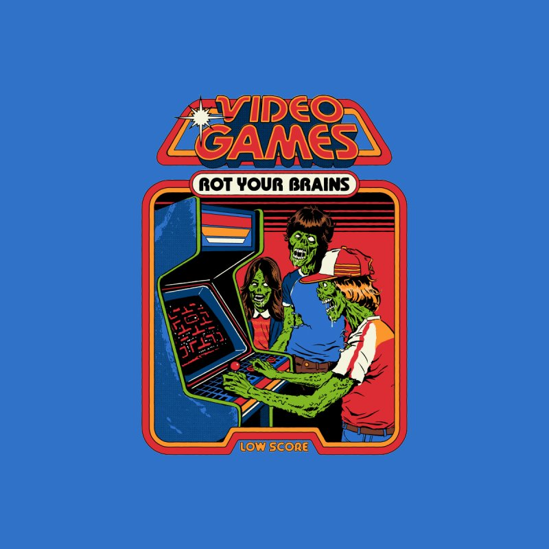 Video Games Rot Your Brains Men's T-Shirt by Steven Rhodes