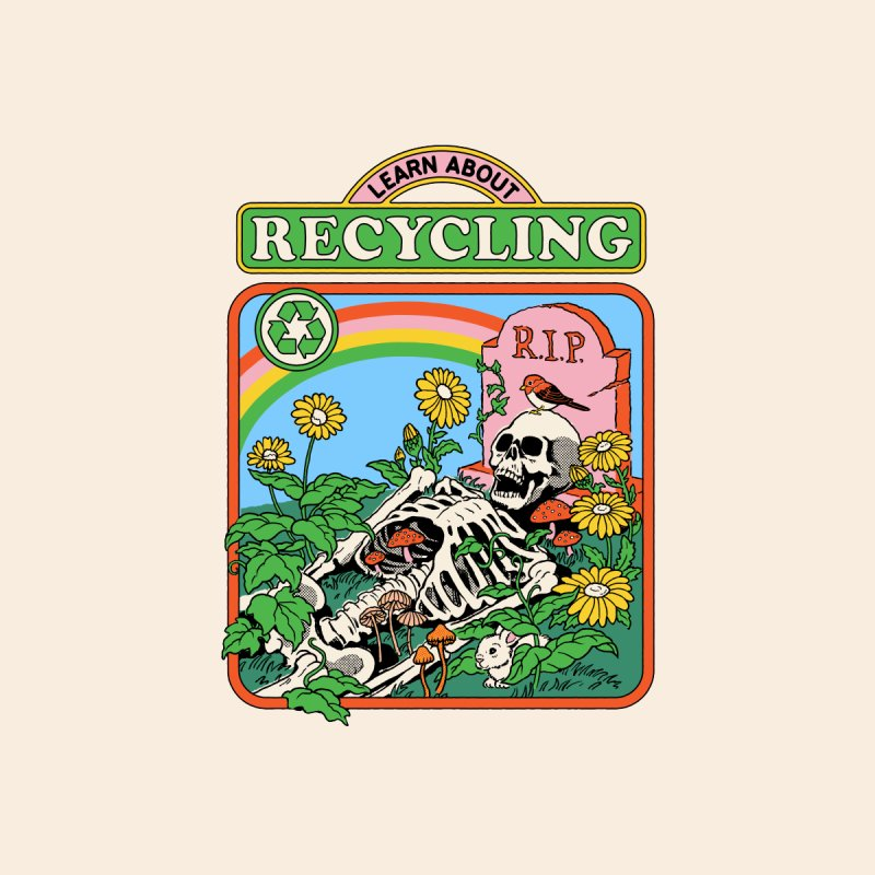 Learn About Recycling Men's T-Shirt by Steven Rhodes
