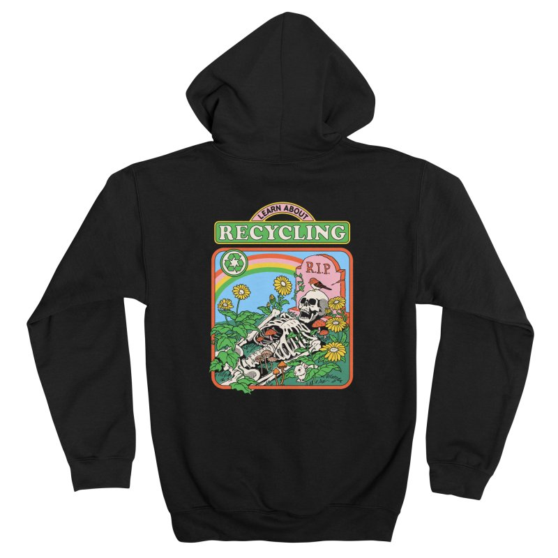 Learn About Recycling Men's Zip-Up Hoody by Steven Rhodes