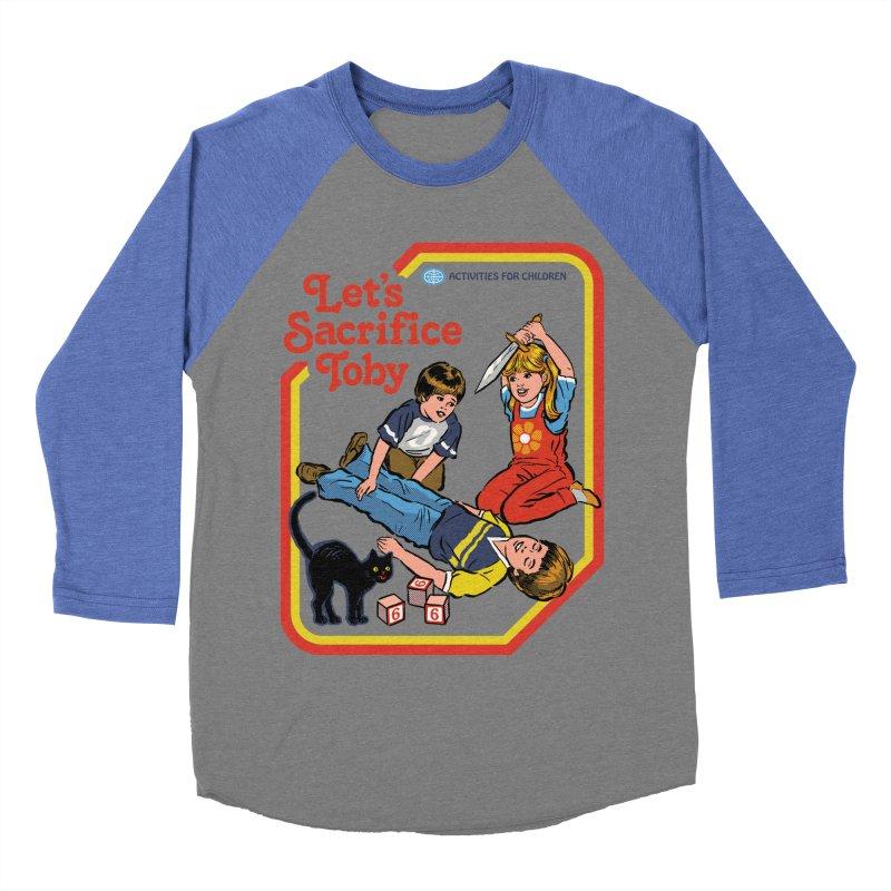 Let's Sacrifice Toby Men's Baseball Triblend T-Shirt by Steven Rhodes