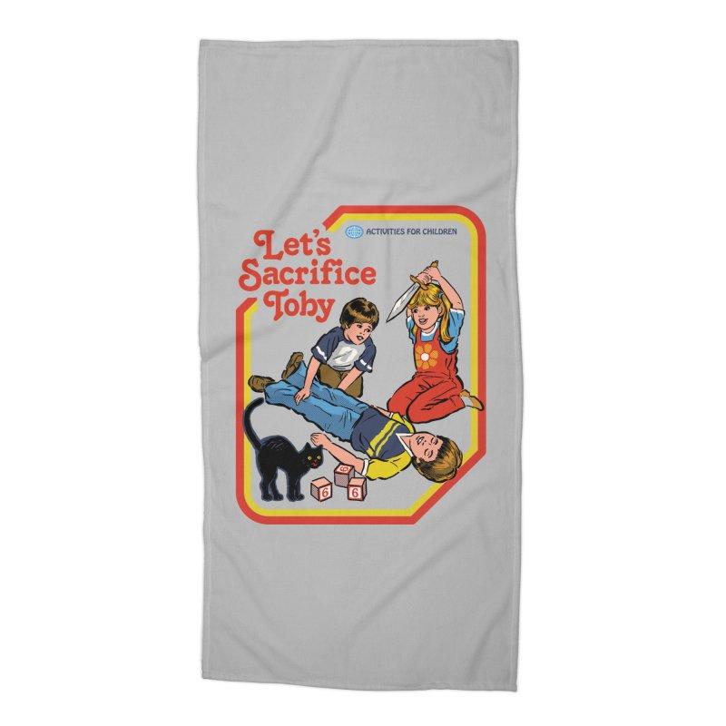 Let's Sacrifice Toby Accessories Beach Towel by Steven Rhodes