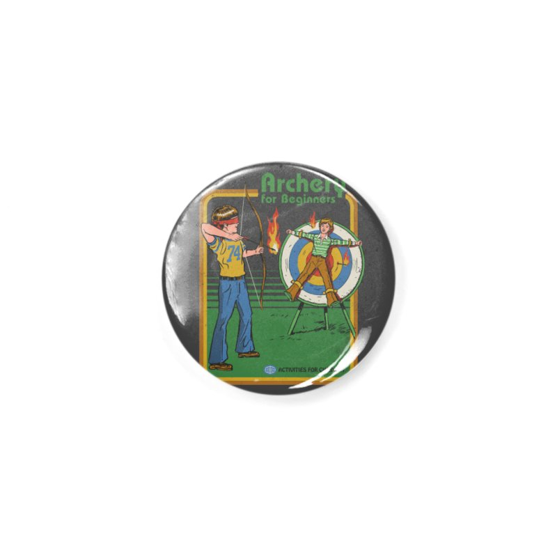 Archery for Beginners Accessories Button by Steven Rhodes