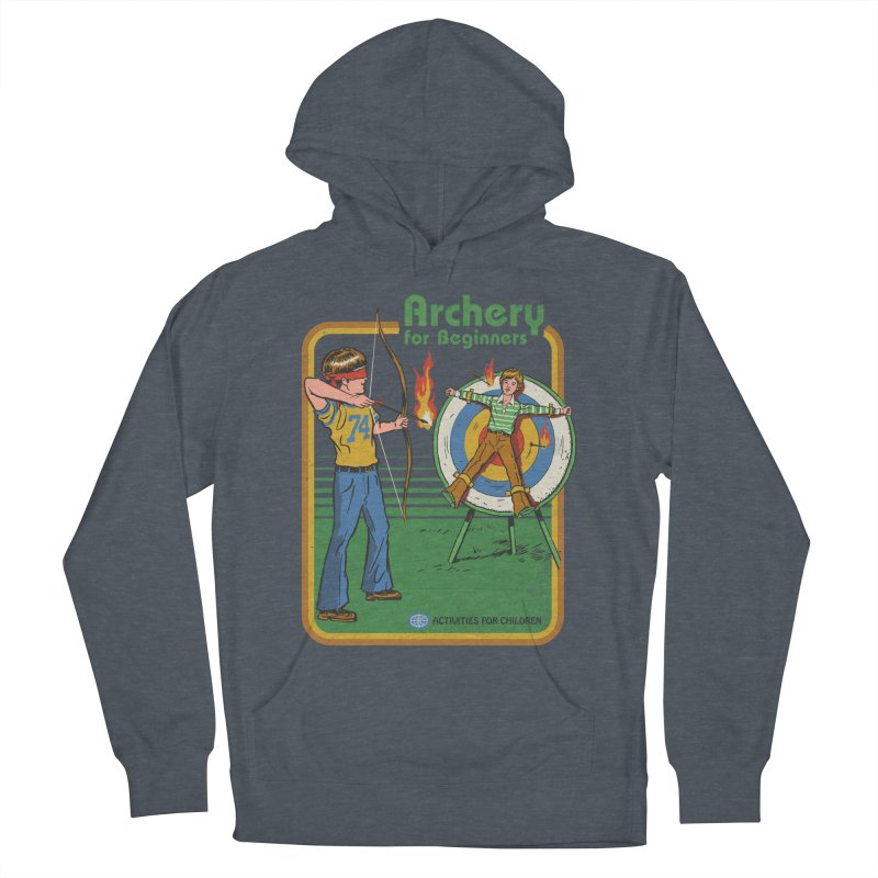 Archery for Beginners Men's French Terry Pullover Hoody by Steven Rhodes