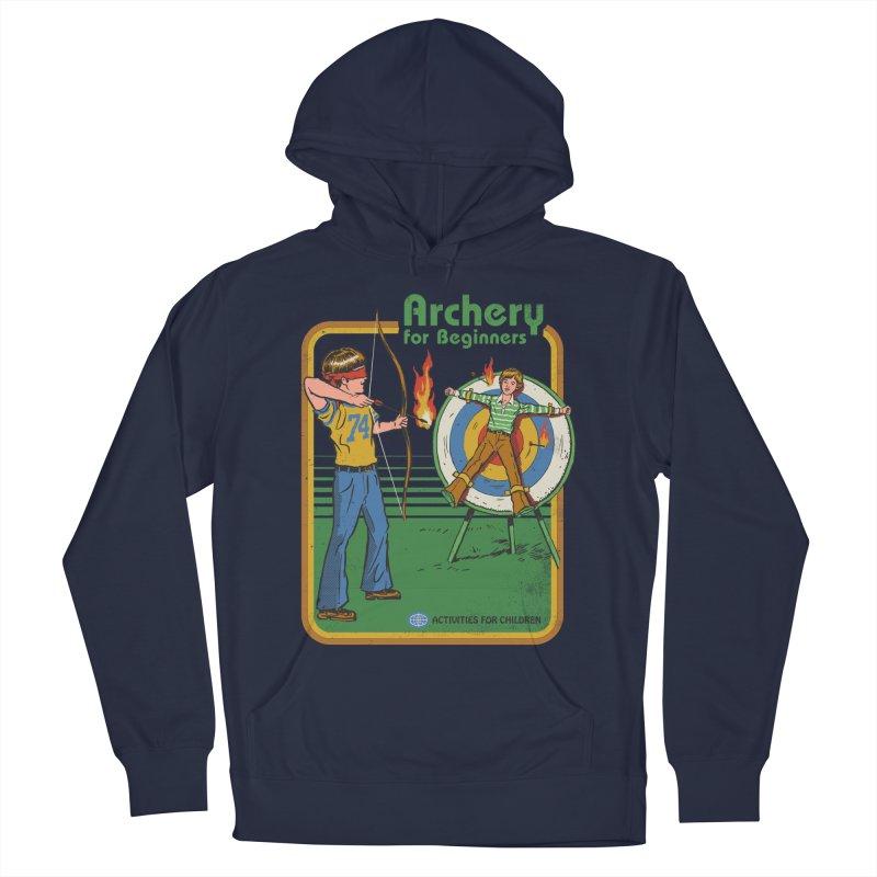 Archery for Beginners Men's Pullover Hoody by Steven Rhodes
