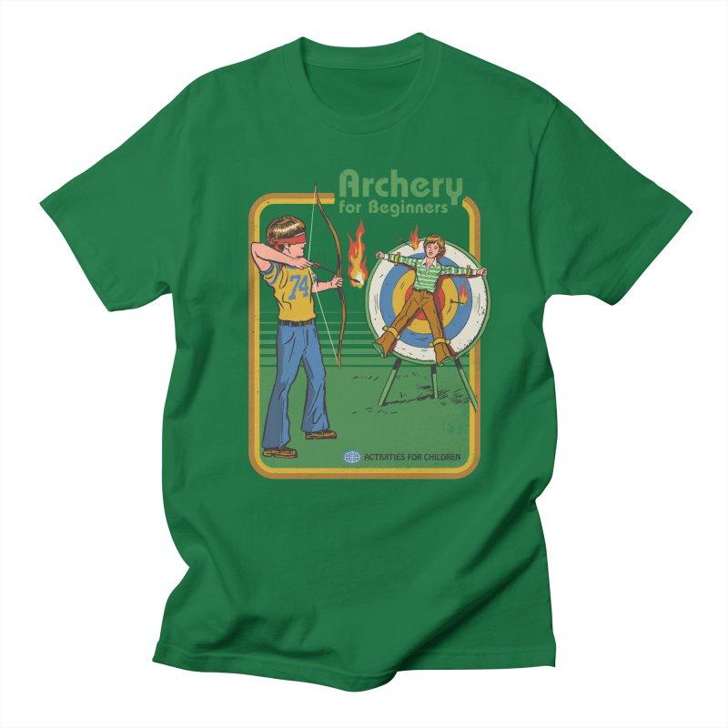 Archery for Beginners in Men's T-shirt Kelly Green by Steven Rhodes