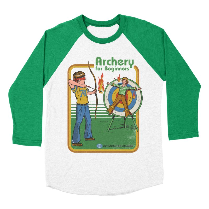 Archery for Beginners Men's Baseball Triblend T-Shirt by Steven Rhodes