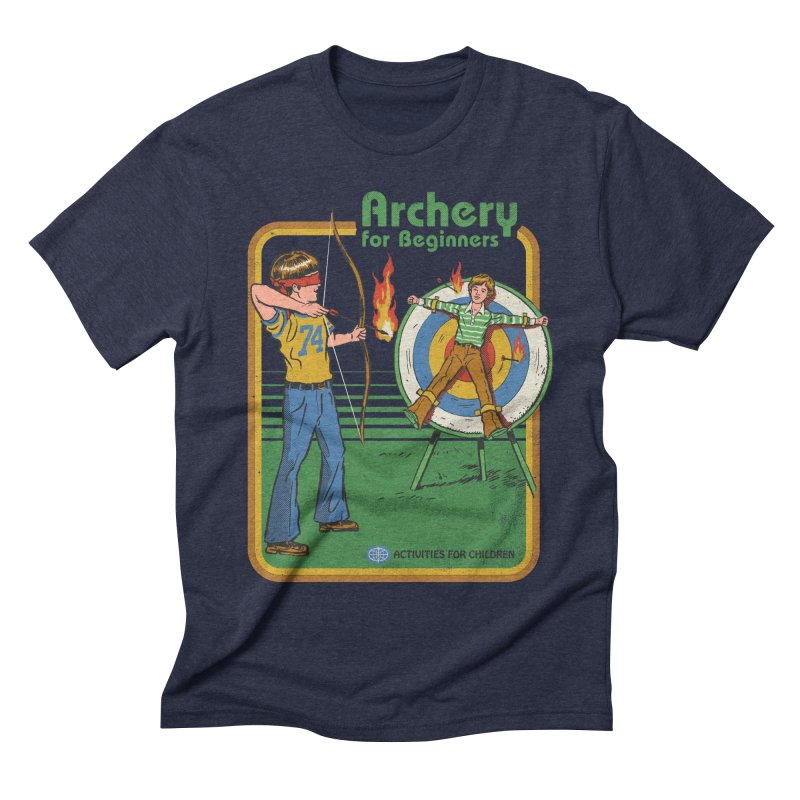 Archery for Beginners Men's Triblend T-shirt by Steven Rhodes