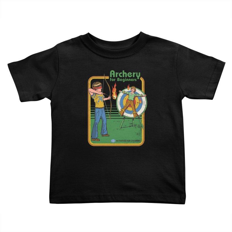 Archery for Beginners Kids Toddler T-Shirt by Steven Rhodes