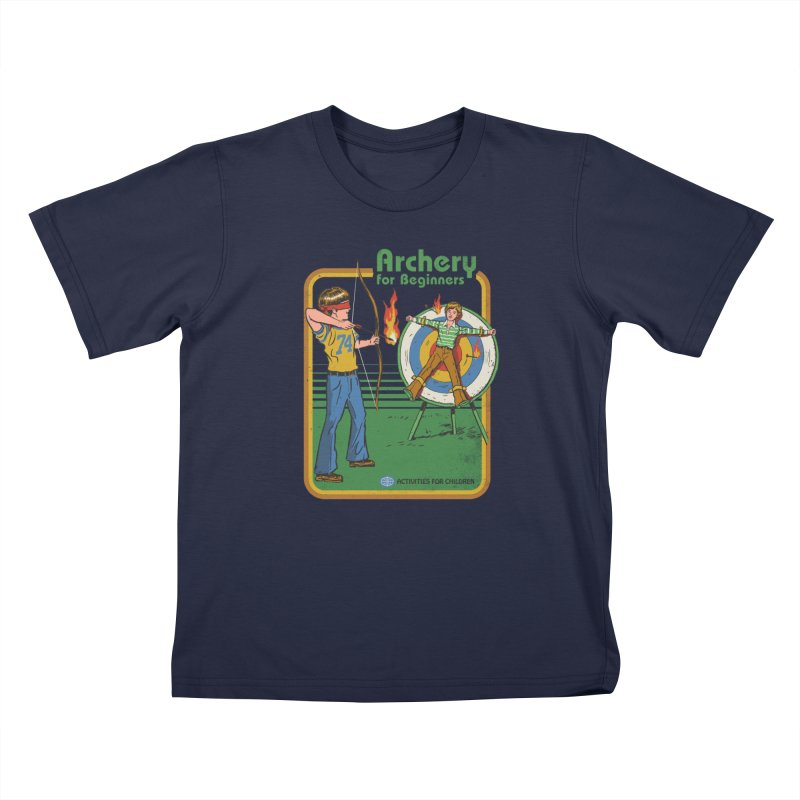Archery for Beginners Kids T-Shirt by Steven Rhodes