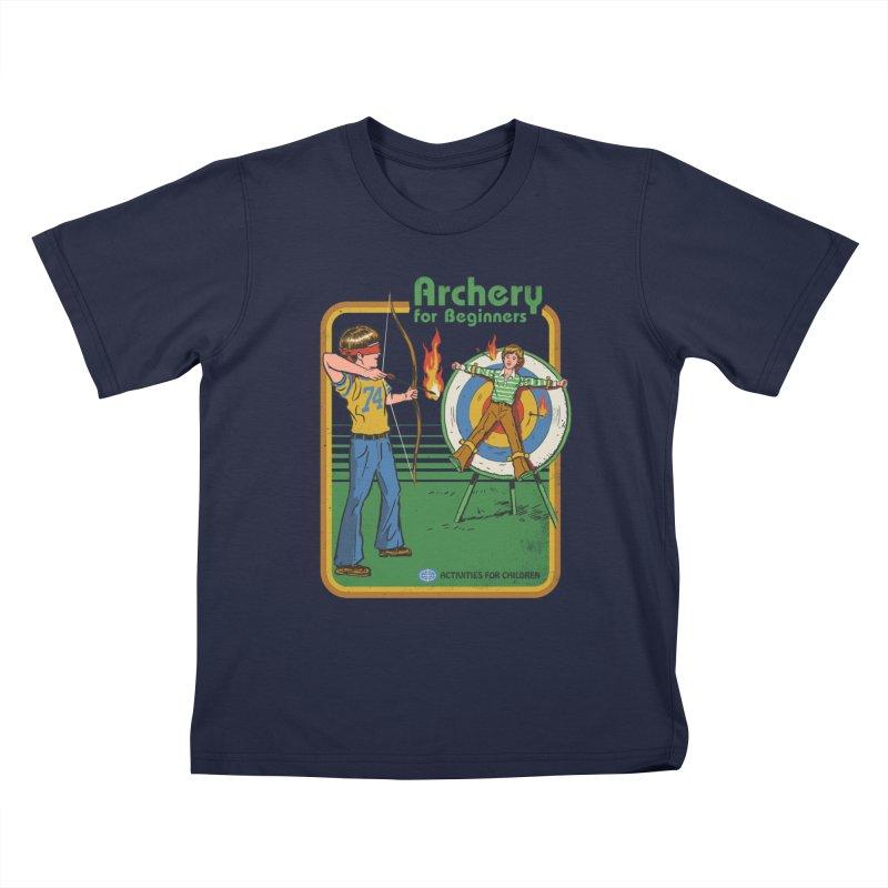 Archery for Beginners Kids T-Shirt by Steven Rhodes