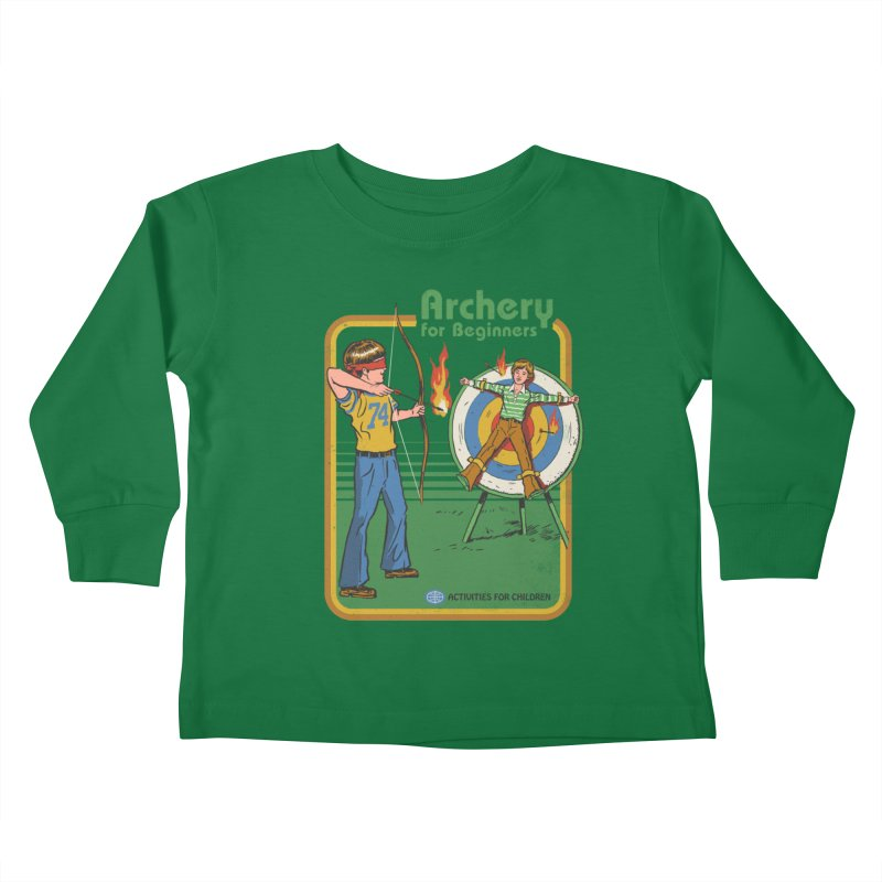 Archery for Beginners Kids Toddler Longsleeve T-Shirt by Steven Rhodes