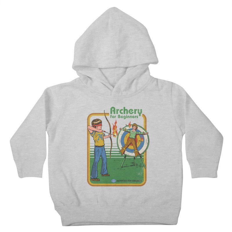 Archery for Beginners Kids Toddler Pullover Hoody by Steven Rhodes