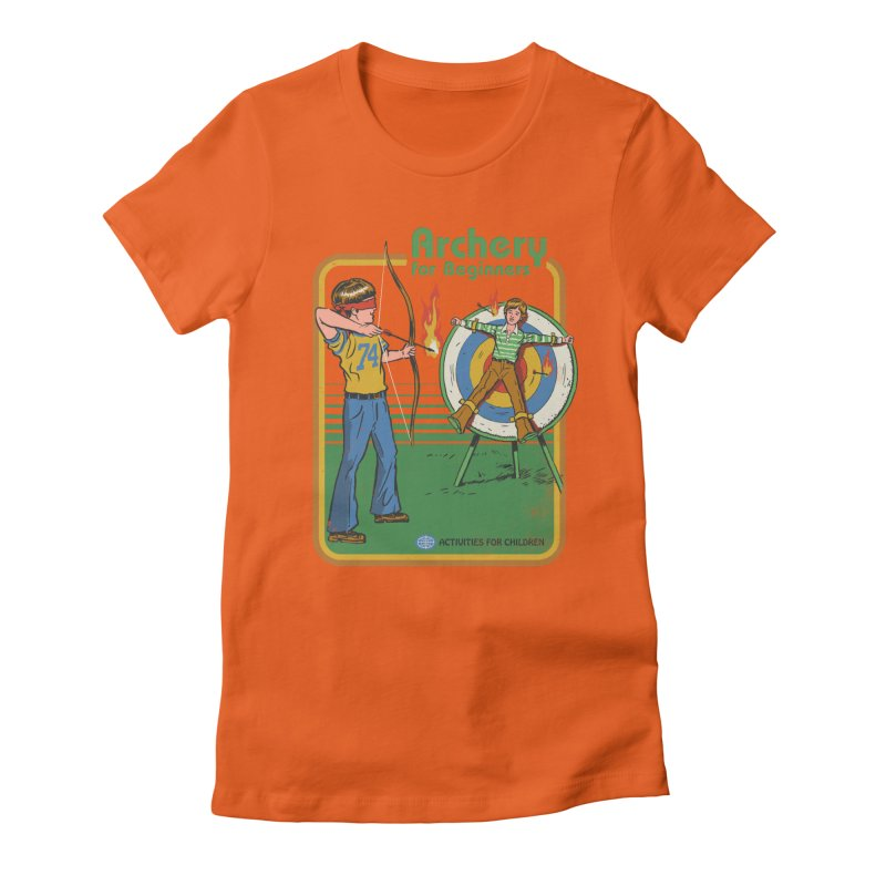 Archery for Beginners Women's Fitted T-Shirt by Steven Rhodes