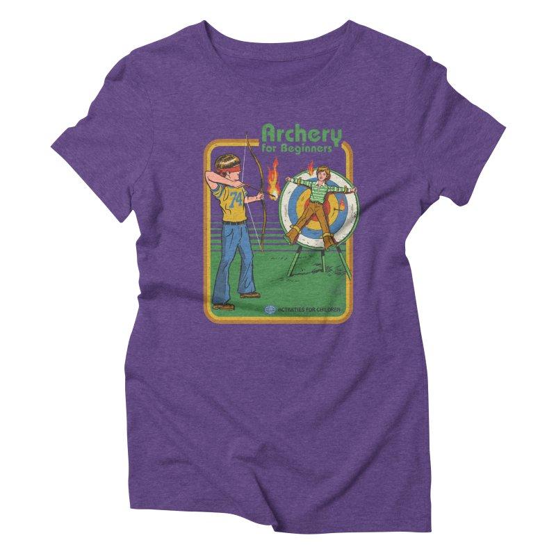 Archery for Beginners Women's Triblend T-shirt by Steven Rhodes