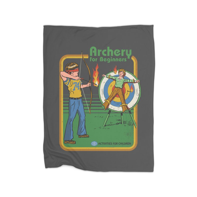 Archery for Beginners Home Blanket by Steven Rhodes