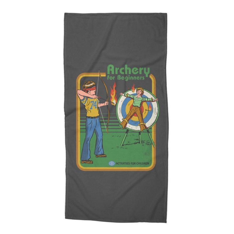 Archery for Beginners Accessories Beach Towel by Steven Rhodes
