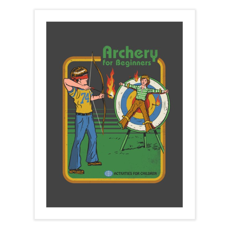 Archery for Beginners Home Fine Art Print by Steven Rhodes