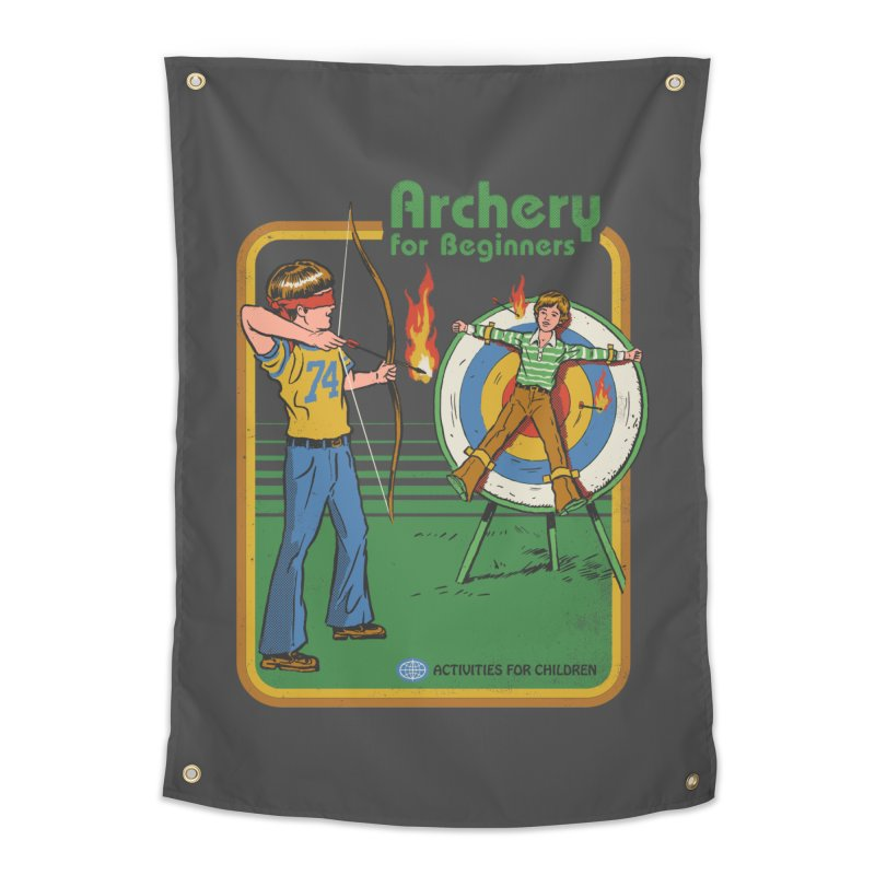 Archery for Beginners Home Tapestry by Steven Rhodes