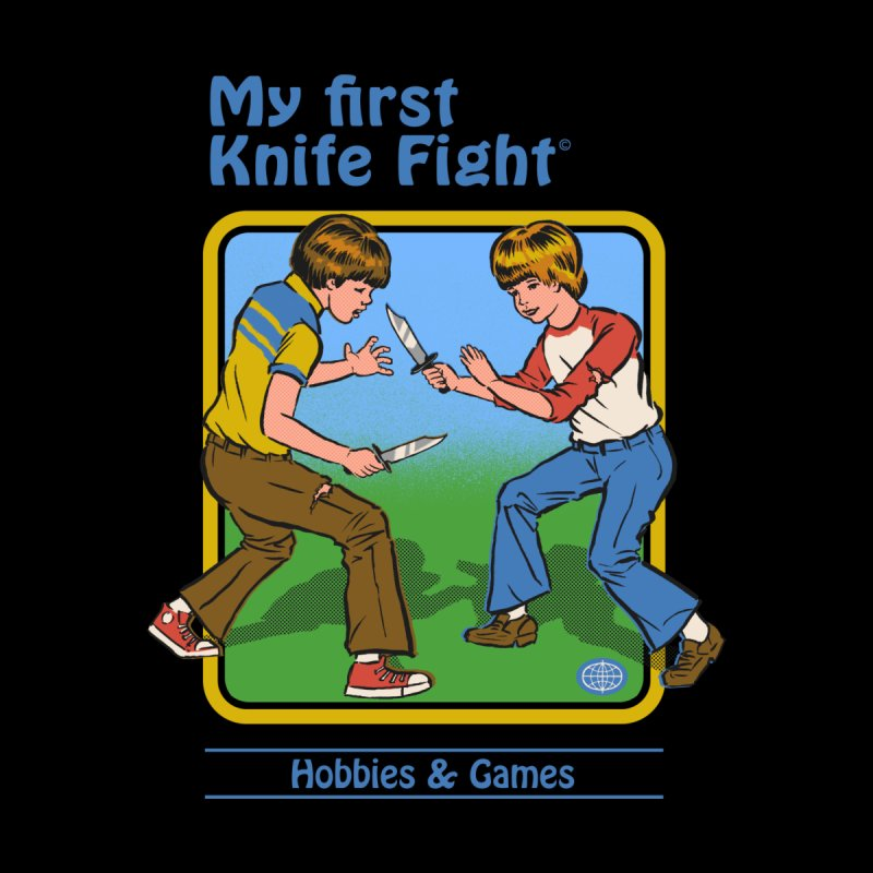 My First Knife Fight Men's Classic T-Shirt by Steven Rhodes
