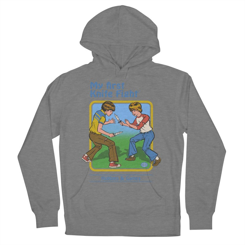 My First Knife Fight Men's French Terry Pullover Hoody by Steven Rhodes