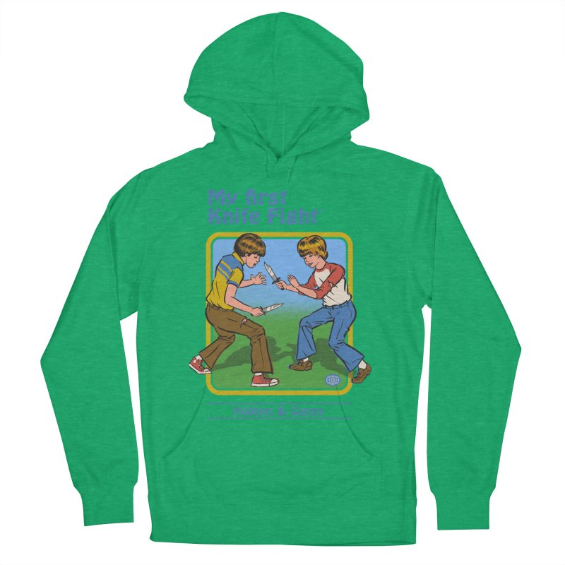 My First Knife Fight Men's Pullover Hoody by Steven Rhodes