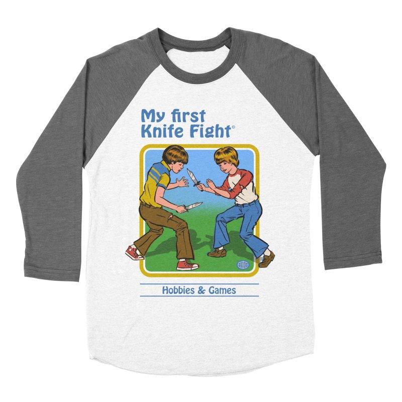 My First Knife Fight Women's Baseball Triblend T-Shirt by Steven Rhodes