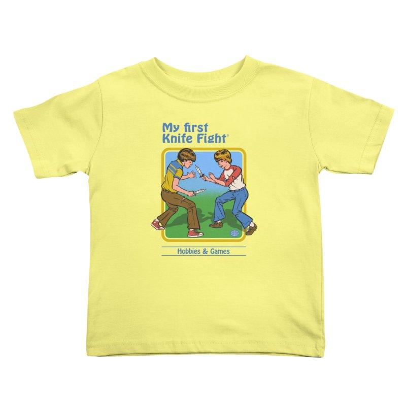 My First Knife Fight Kids Toddler T-Shirt by Steven Rhodes