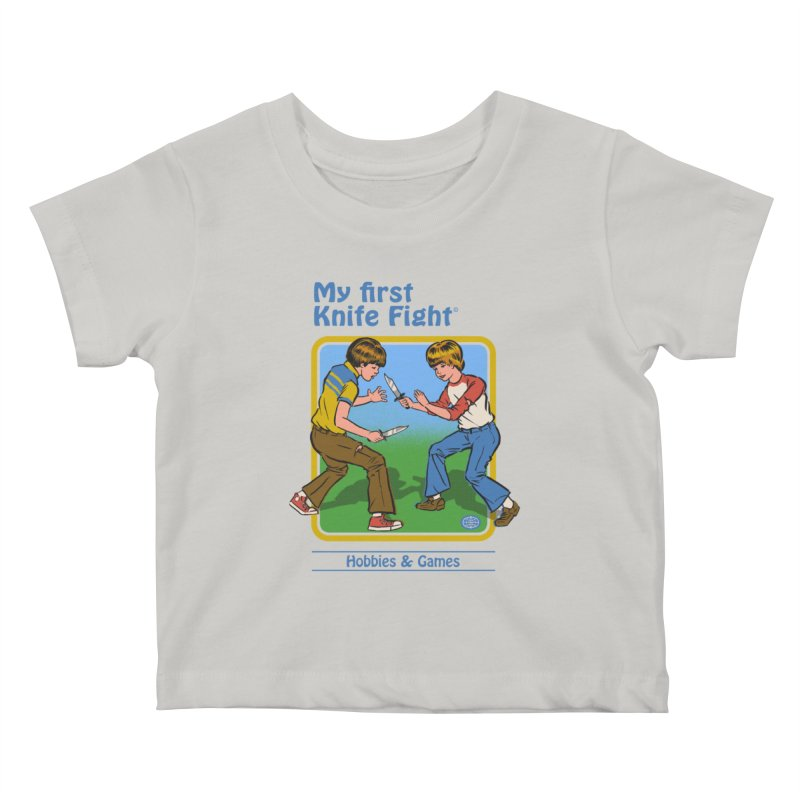 My First Knife Fight Kids Baby T-Shirt by Steven Rhodes