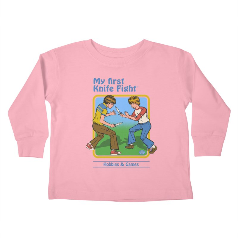 My First Knife Fight Kids Toddler Longsleeve T-Shirt by Steven Rhodes