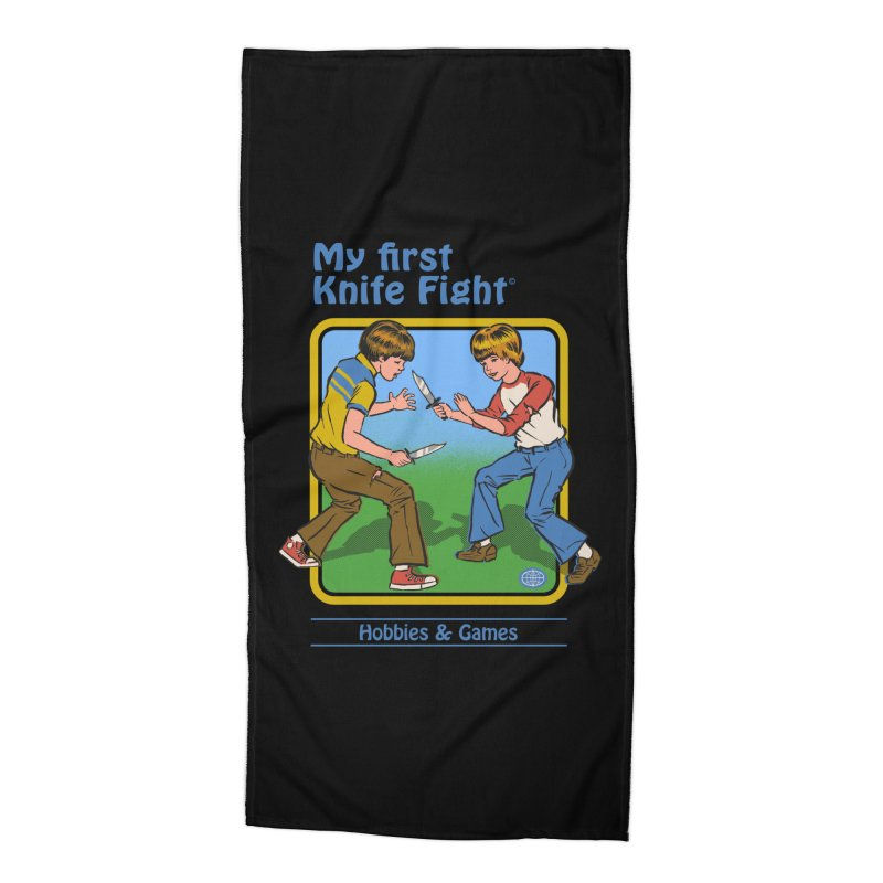 My First Knife Fight Accessories Beach Towel by Steven Rhodes