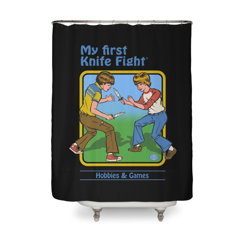 My First Knife Fight Home Shower Curtain by Steven Rhodes