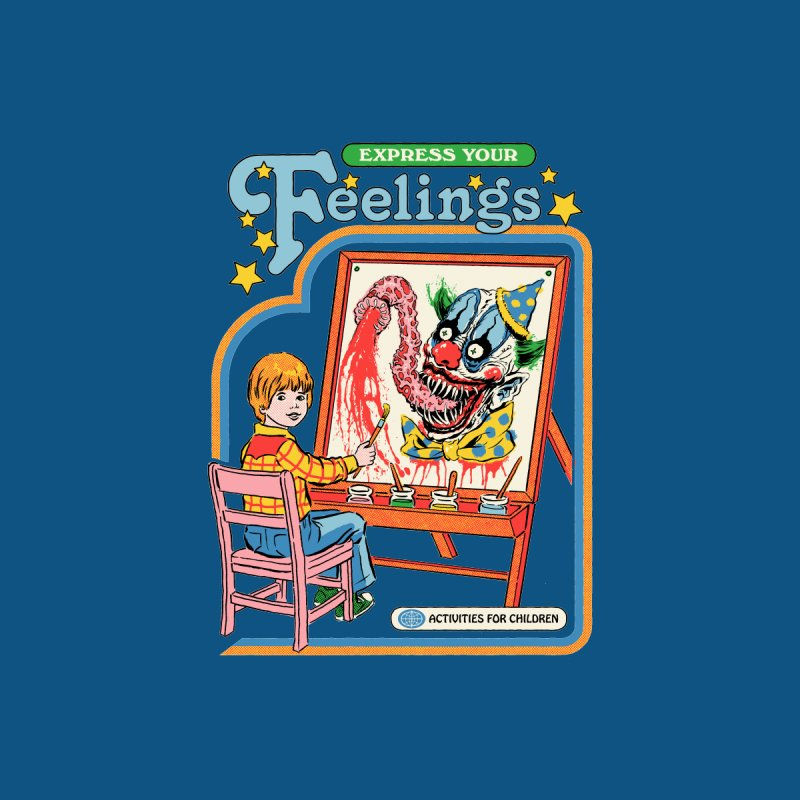 Express Your Feelings Men's T-Shirt by Steven Rhodes