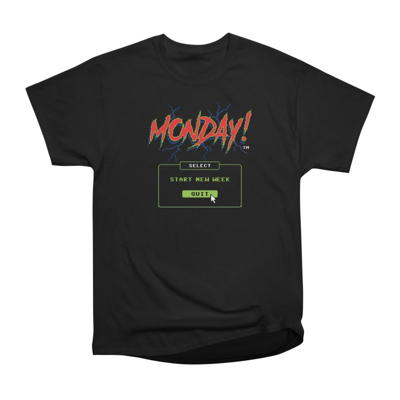 Monday (Game Over) Men's Classic T-Shirt by Steven Rhodes