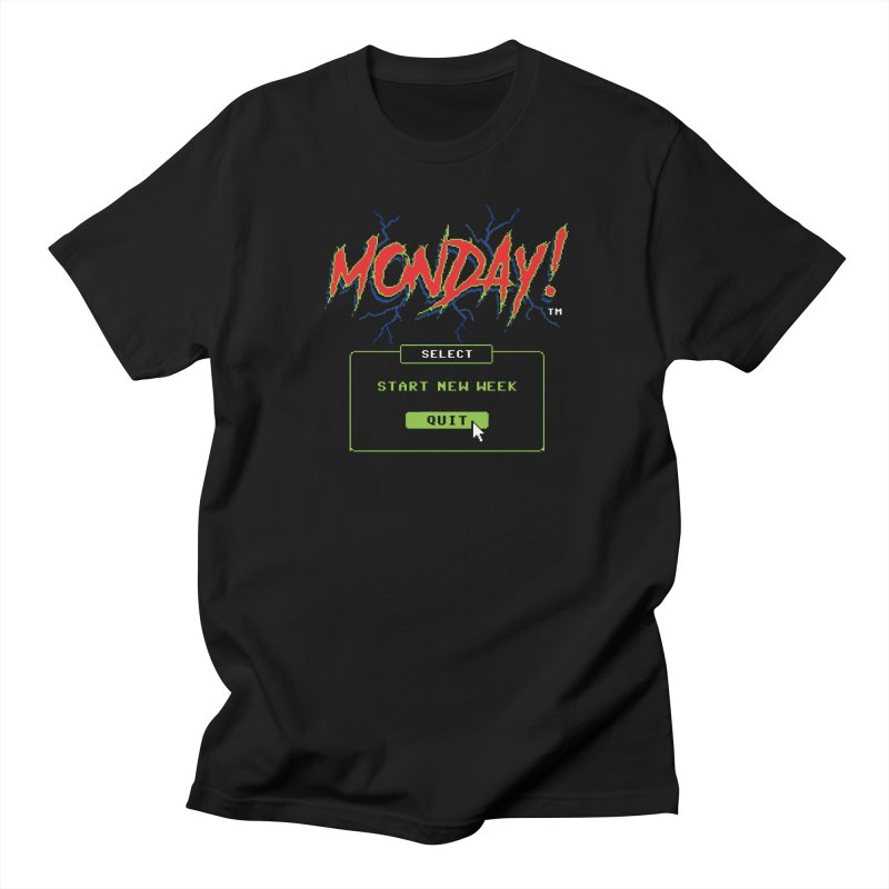 Monday (Game Over) Men's T-shirt by Steven Rhodes