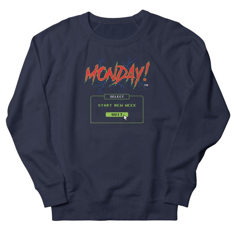 Monday (Game Over) Men's Sweatshirt by Steven Rhodes