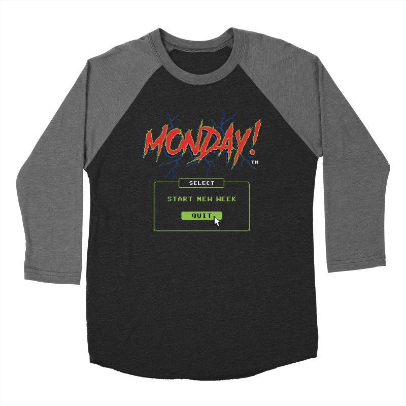 Monday (Game Over) Men's Baseball Triblend T-Shirt by Steven Rhodes