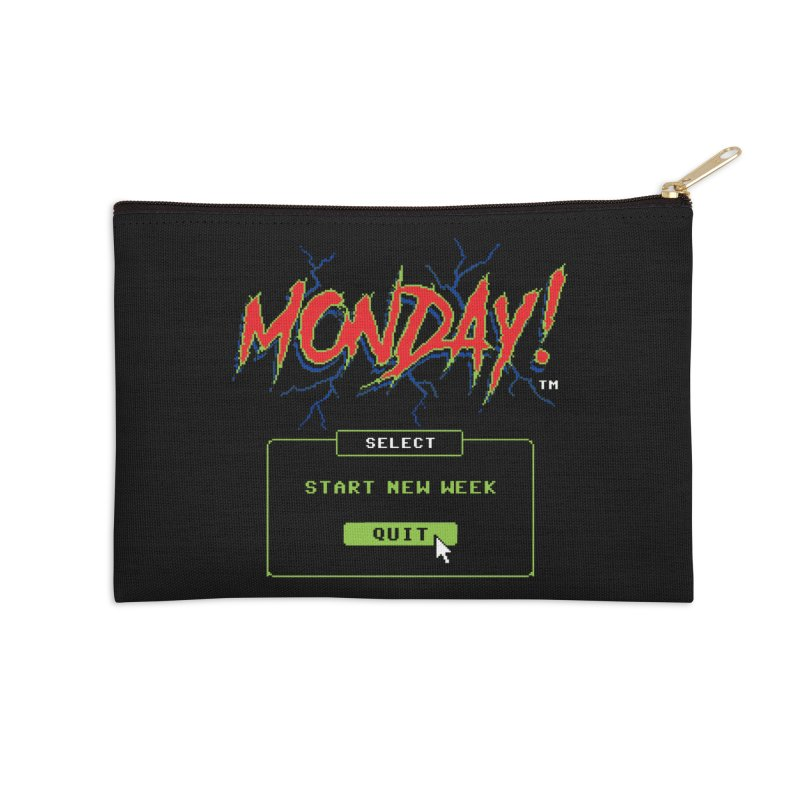 Monday (Game Over) Accessories Zip Pouch by Steven Rhodes
