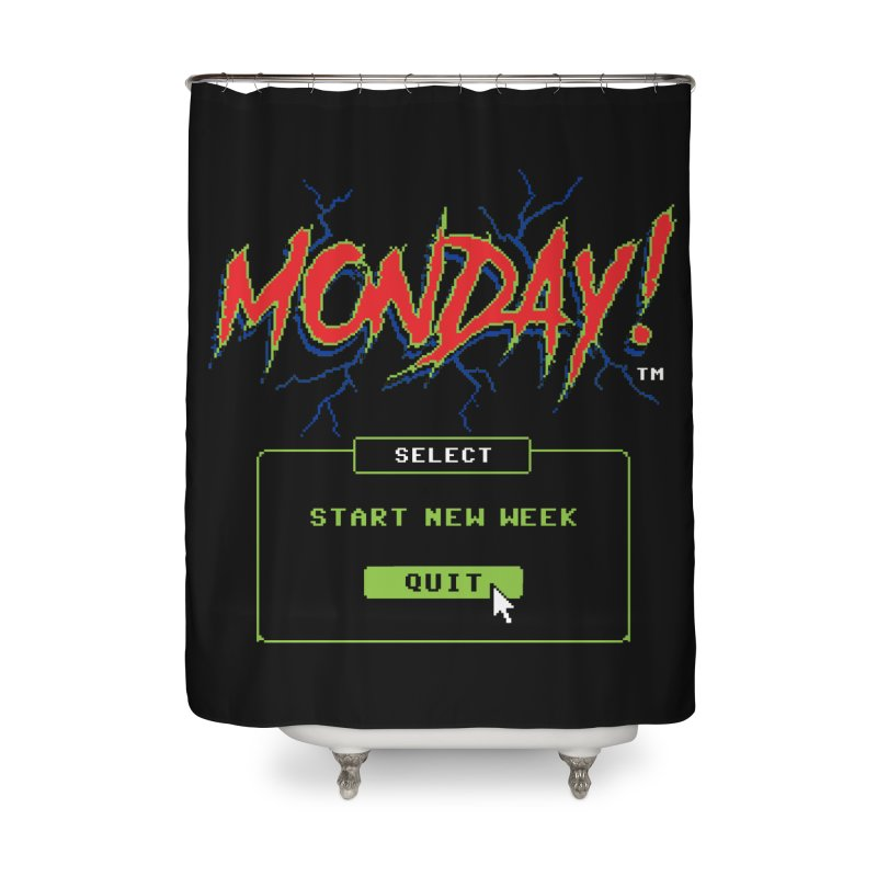Monday (Game Over) Home Shower Curtain by Steven Rhodes