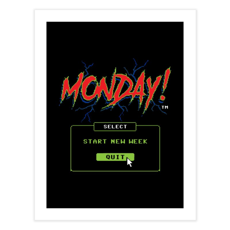 Monday (Game Over) Home Fine Art Print by Steven Rhodes