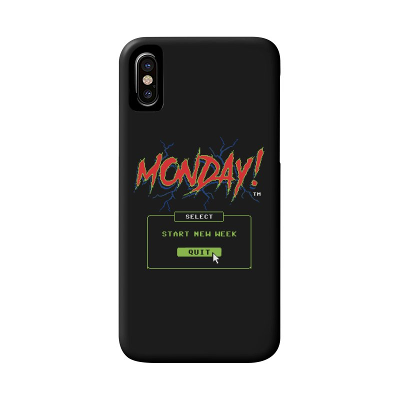 Monday (Game Over) Accessories Phone Case by Steven Rhodes