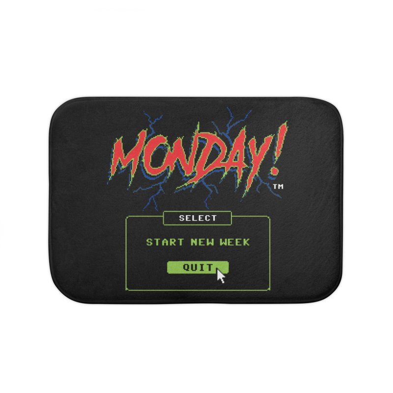 Monday (Game Over) Home Bath Mat by Steven Rhodes