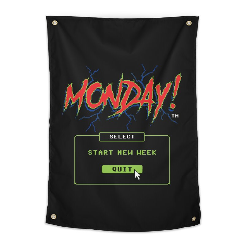 Monday (Game Over) Home Tapestry by Steven Rhodes