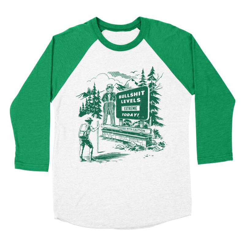 Extreme Bullsh*t Women's Baseball Triblend T-Shirt by Steven Rhodes