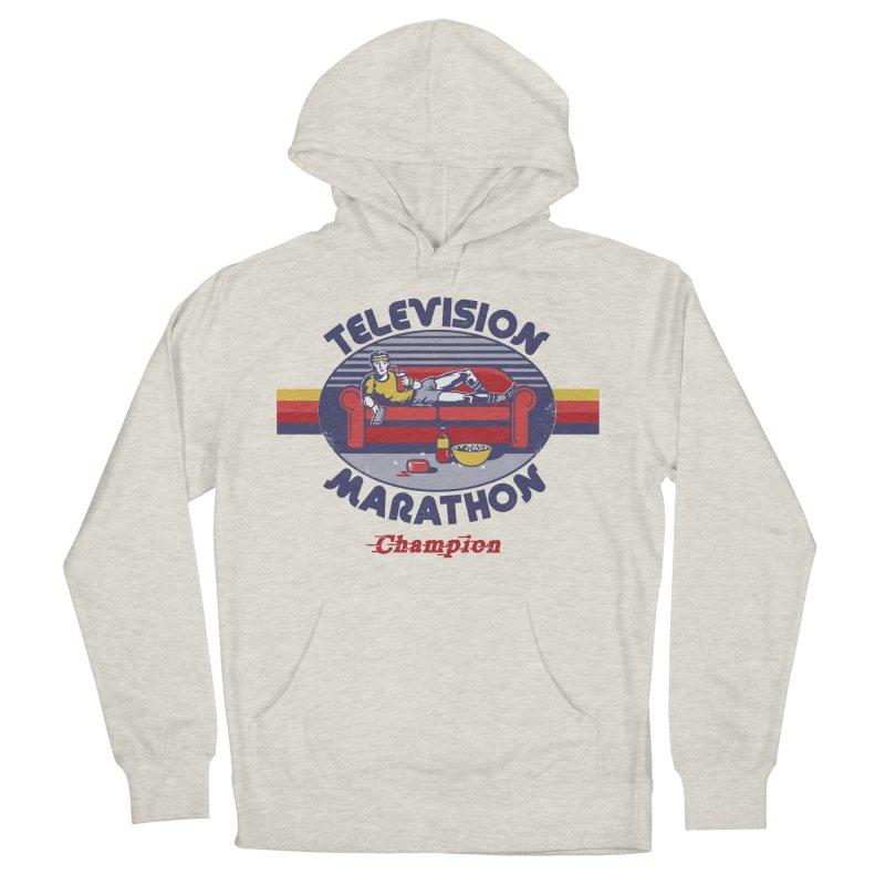 Television Marathon Champion Women's Pullover Hoody by Steven Rhodes